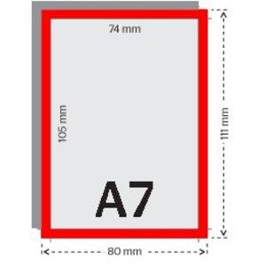 A7 flyers 250g licht glanzend papier 4/4 met UV-lak (dubbelzijdig full color bedrukt)