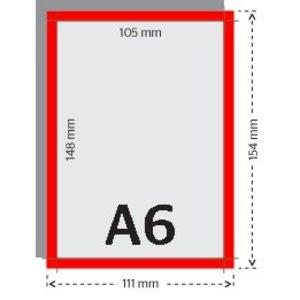 A6 flyers 250g licht glanzend papier 4/4 met UV-lak (dubbelzijdig full color bedrukt)