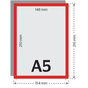 A5 flyers 250g licht glanzend papier 4/4 met UV-lak (dubbelzijdig full color bedrukt)