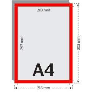 A4 flyers 250g licht glanzend papier 4/4 met UV-lak (dubbelzijdig full color bedrukt)