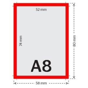 A8 flyers 250g licht glanzend papier 4/0 (enkelzijdig full color bedrukt)