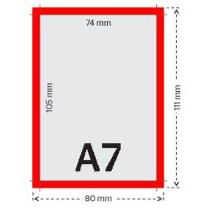 A7 flyers 250g licht glanzend papier 4/0 (enkelzijdig full color bedrukt)