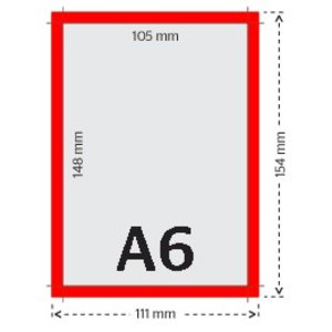 A6 flyers 250g licht glanzend papier 4/0 (enkelzijdig full color bedrukt)