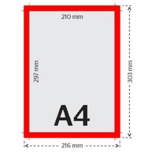 A4 flyers 135g licht glanzend papier 4/0 (enkelzijdig full color bedrukt)