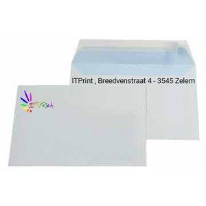 C6 162x114mm enveloppen 4/1 bedrukking zonder venster