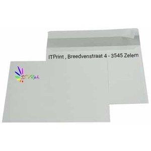 C5 229x162mm enveloppen 4/1 bedrukking zonder venster