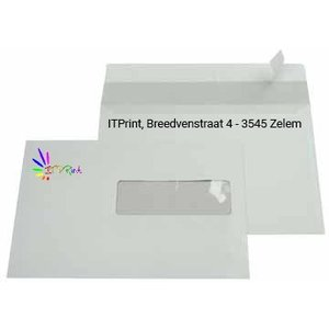 C5 229x162mm enveloppen 4/1 bedrukking met venster