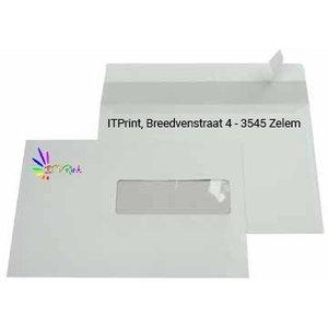 A5 220x156mm enveloppen 4/1 bedrukkking met venster