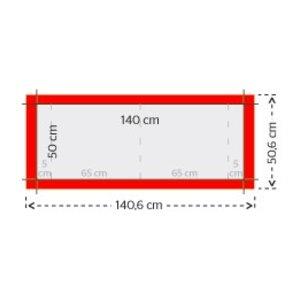 Immoborden 50x70cm liggend of staand - 3,5mm polypropyleen