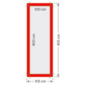 Mastvlag zonder open zoom 100x400cm 4/0 full color bedrukking (1 ontwerp)