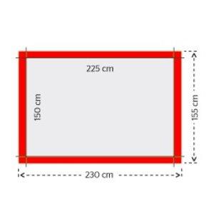 Gevelvlaggen 150x225cm 4/0 full color bedrukking (1 ontwerp)