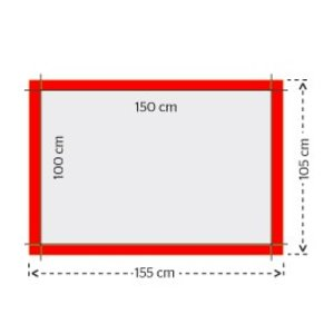 Gevelvlaggen 100x150cm 4/0 full color bedrukking (1 ontwerp)