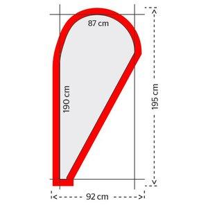 Dropvlag 190x87cm (1 ontwerp)