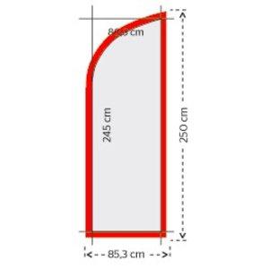 Beachvlag 245x80,3cm (1 ontwerp)