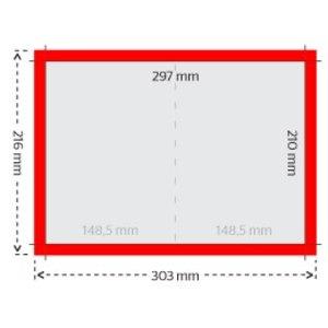 A5 folders 250g licht glanzend papier met UV-lak (glanslaminaat)