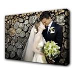 Foto op tuinposter met 4cm houten frame