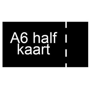 A6 half inkomkaarten 300g mat - geperforeerd