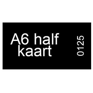 A6 half inkomkaarten 300g mat - genummerd
