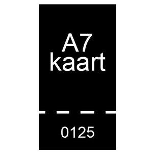 A7 inkomkaarten 300g mat - genummerd en geperforeerd