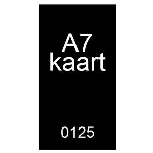 A7 inkomkaarten 300g mat - genummerd
