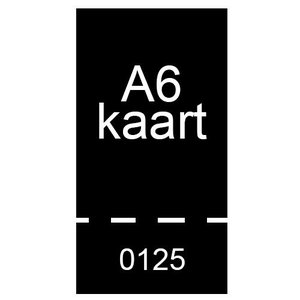 A6 inkomkaarten 300g mat - genummerd en geperforeerd