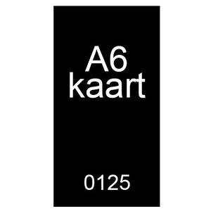 A6 inkomkaarten 300g mat - genummerd