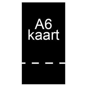 A6 inkomkaarten 300g mat - geperforeerd