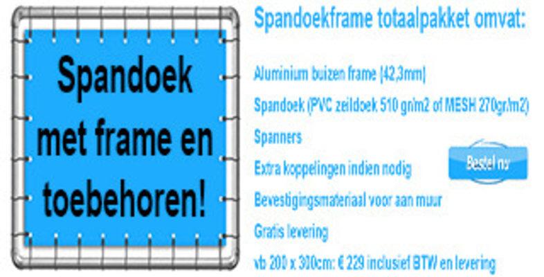 Spandoek met frame