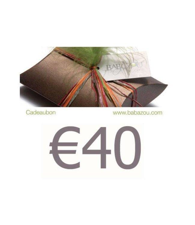Cadeaubon 40 euro