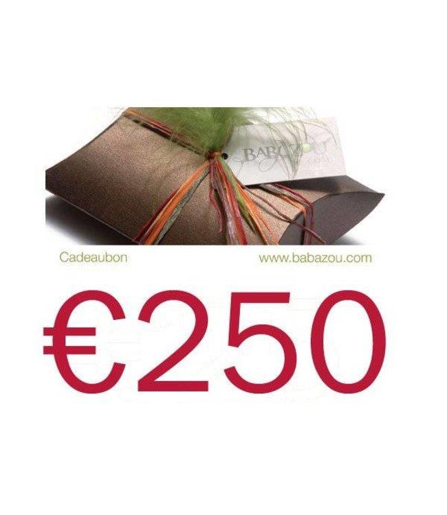 Cadeaubon 250 euro + 10% gratis