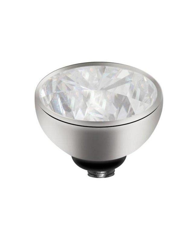Melano Zirkonium Kristal - Zilver zetting