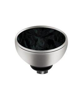 Melano Zirkonium Zwart - Zilver zetting