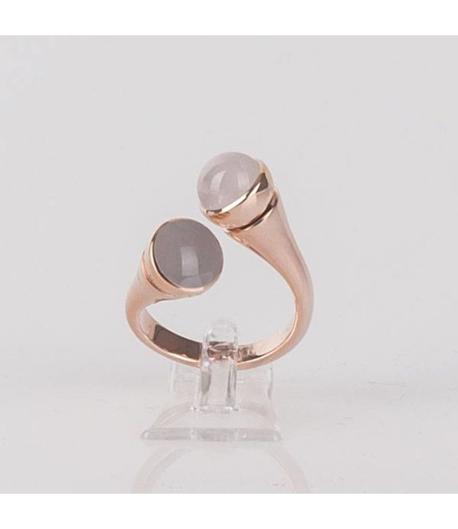 Melano Twisted Ring Curved Rosé