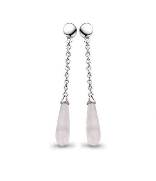 Casa jewelry Oorring Cherie zilver - Grijze Agaat