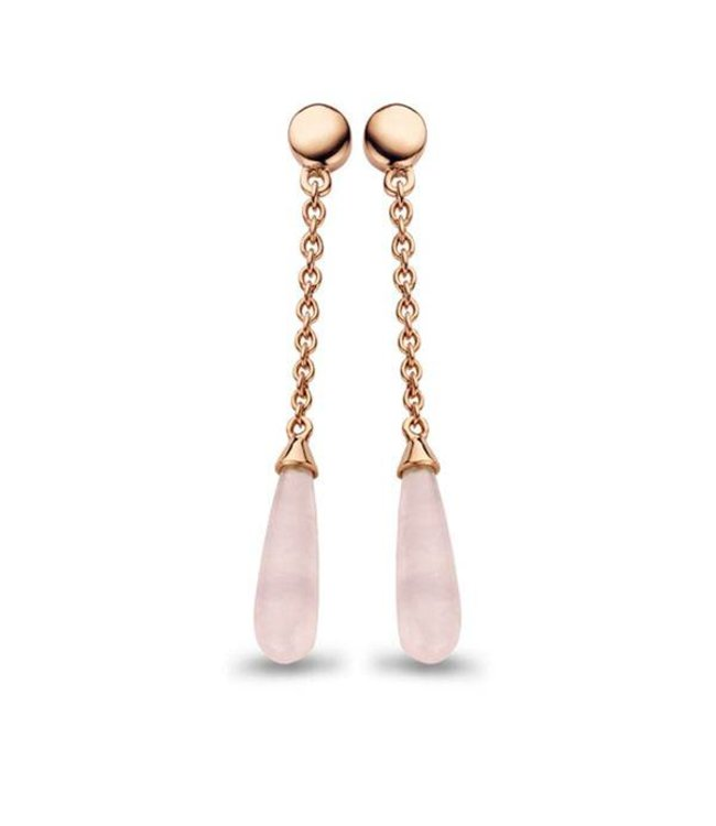 Casa jewelry Oorring Cherie rosé - Rose quartz