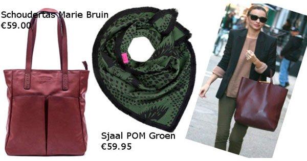 Drie combinaties met een shopper handtas