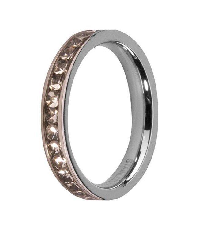Melano Side Ring Zilver Crystal