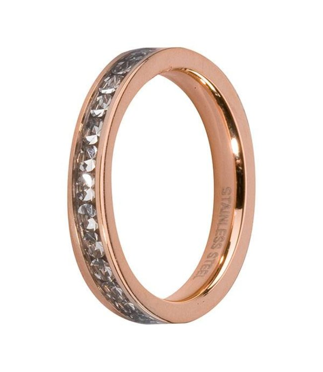 Melano Side Ring Rosé Crystal