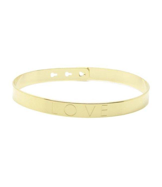 Mya Bay Armband Love goud
