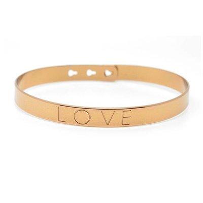 Armband Love brons