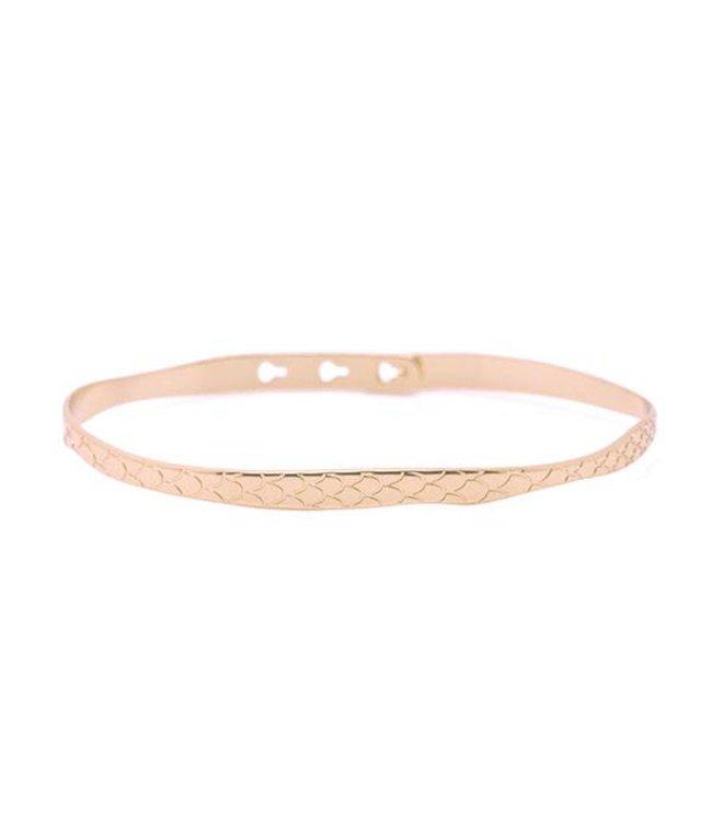 Mya Bay Armband Python rosé