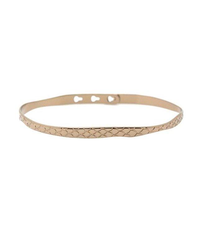 Mya Bay Armband Python brons