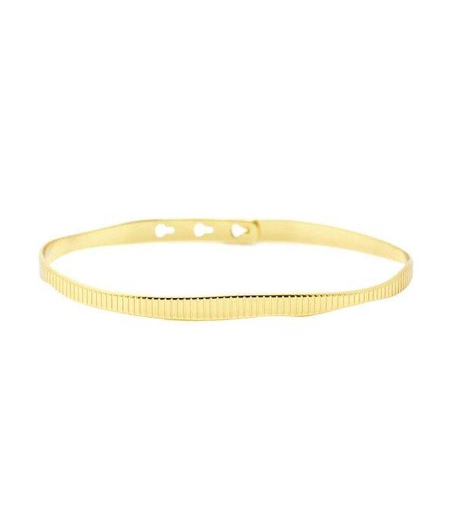 Mya Bay Armband Ribbel goud