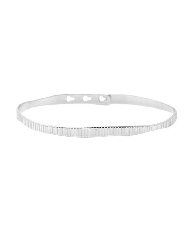 Mya Bay Armband Ribbel zilver