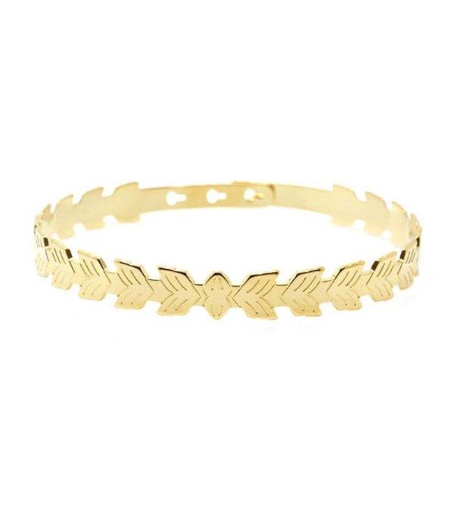 Mya Bay Armband leafs goud