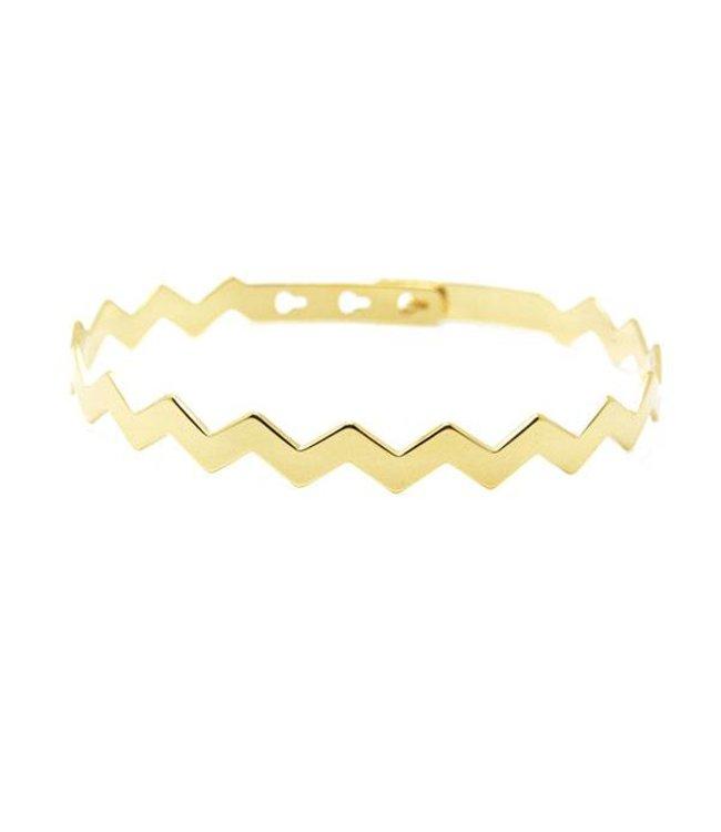 Mya Bay Armband Zig Zag goud