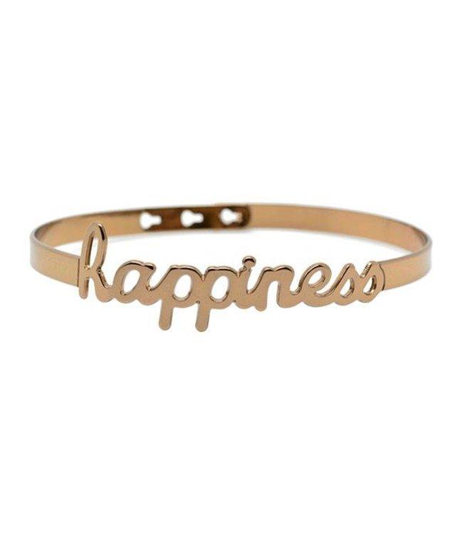 Mya Bay Armband Happiness brons