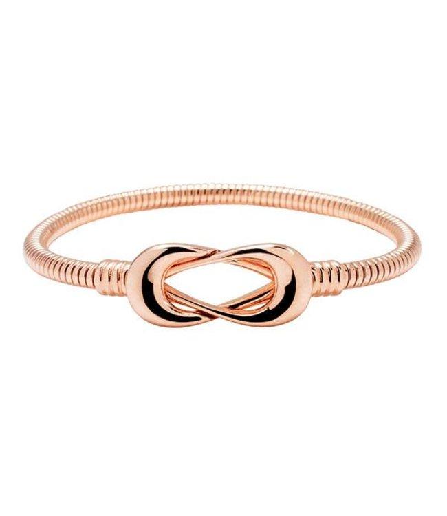 Bronzallure Armband Infinity Rose Gold