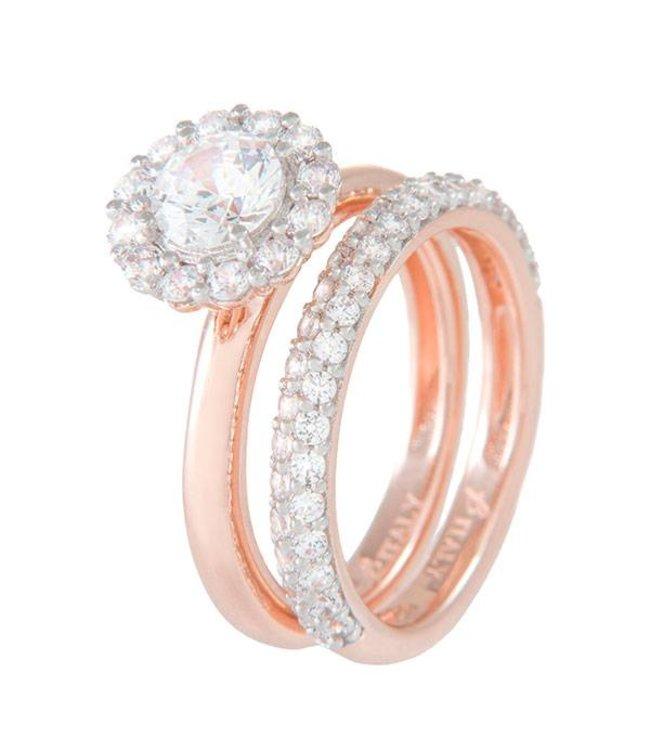 Bronzallure Ring Two Rings Zirkoon