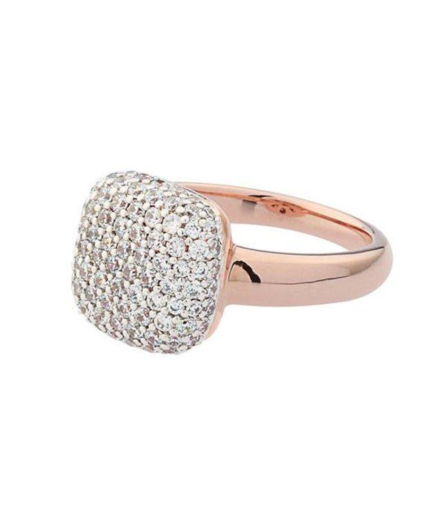 Bronzallure Ring Vierkant Zirkoon
